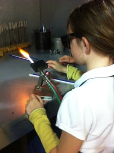 Glass blowing at Corning Museum of Glass